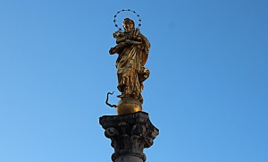 Heiliger Sankt Georg am Eingang in den Klosterhof - Foto oberschwaben-welt.de