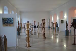 Blick in die Ausstellung von Klaus Jonski im Kloster Bad Schussenried - Foto ivk