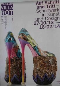 Plakat Ausstellung Schuhwerk Villa Rot Burgrieden - Foto ivk