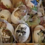 Bemalte Ostereier mit Tiermotiv - Foto oberschwaben-welt