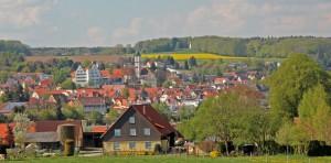 Blick auf Aulendorf Schloss und Pfarrkirche - Foto oberschwaben-welt.de