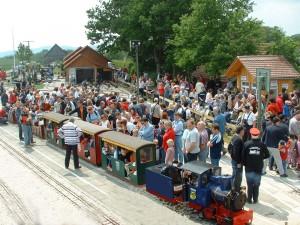 Miniatur-Dampfbahn in Kuernbach