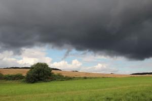 Regenwolke über Oberschwaben