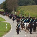 Prozessionsritt Wendelinusritt Gutenzell nach Niedernzell