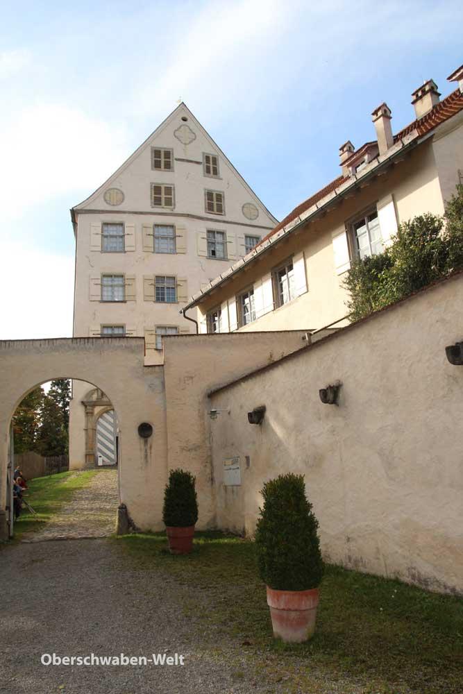 Eintritt auf die Anlage von Schloss Achberg