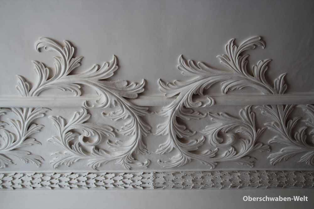 Schloss Achberg Detail Stuckdecke