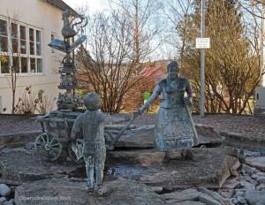 Wain-Dorfbrunnen